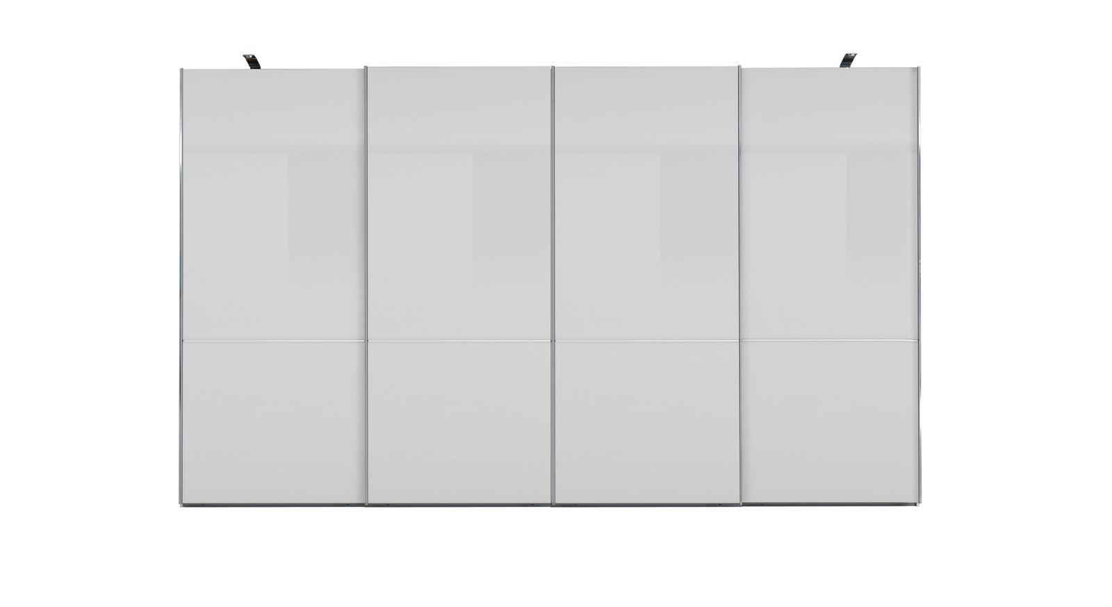 GALLERY M Schwebetüren-Kleiderschrank IMOLA W Weiß - 4-türig ohne Zierspiegel
