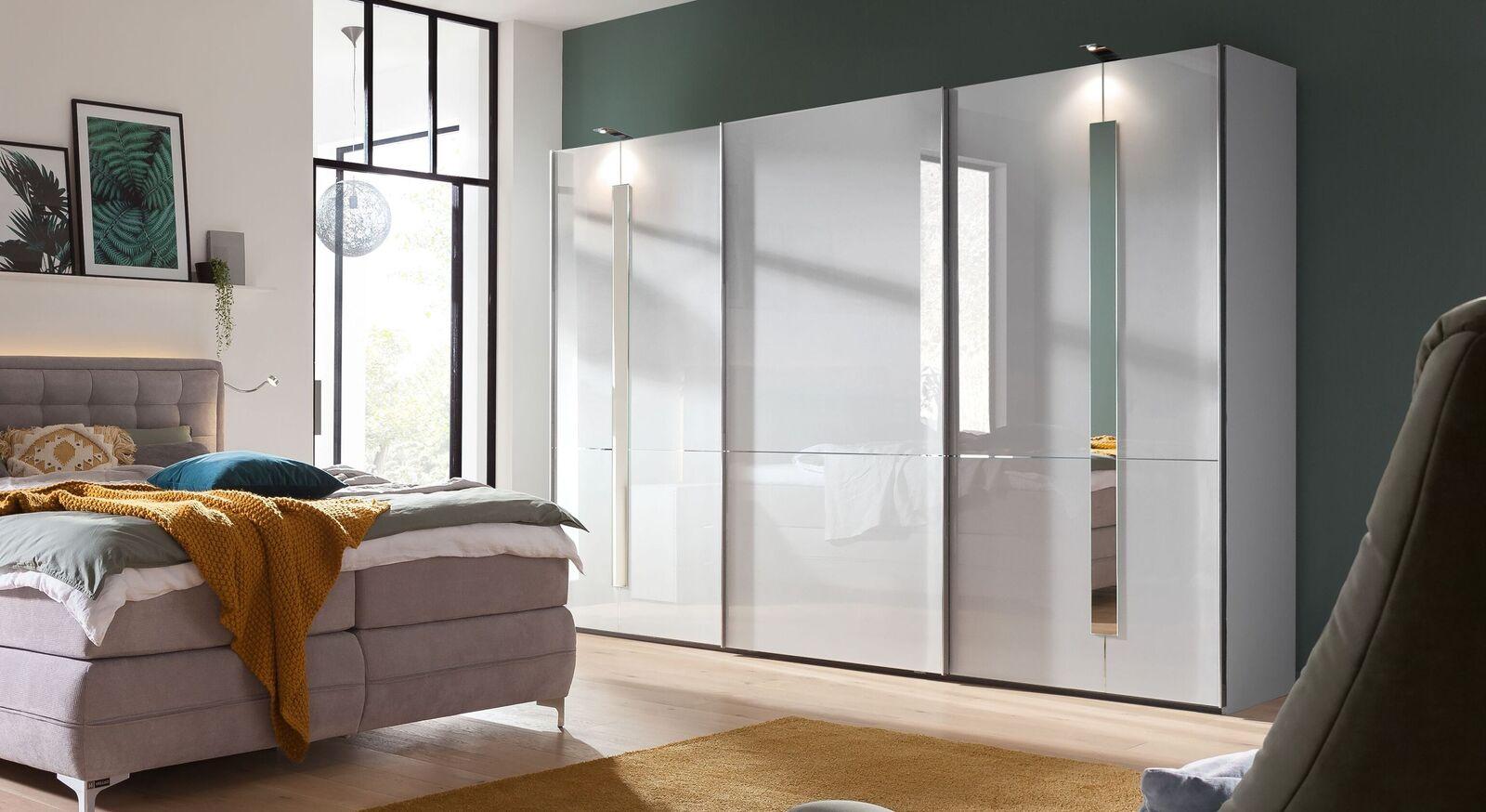 Moderner GALLERY M Schwebetüren-Kleiderschrank IMOLA W in Weiß