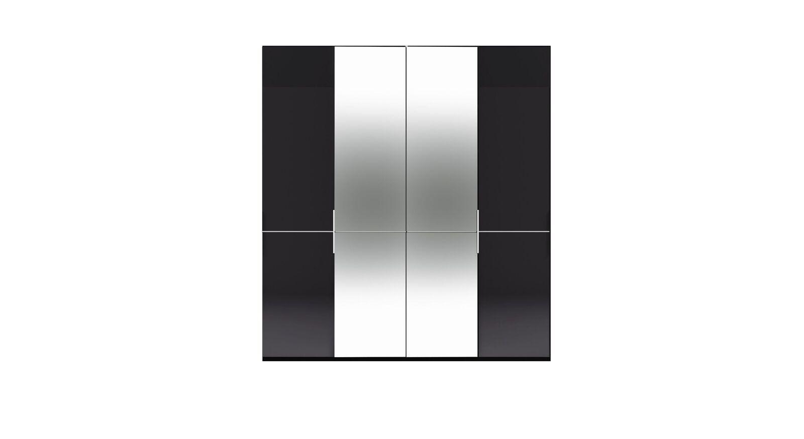 4-türiger GALLERY M Spiegel-Drehtüren-Kleiderschrank IMOLA W Graphit ohne Spiegel