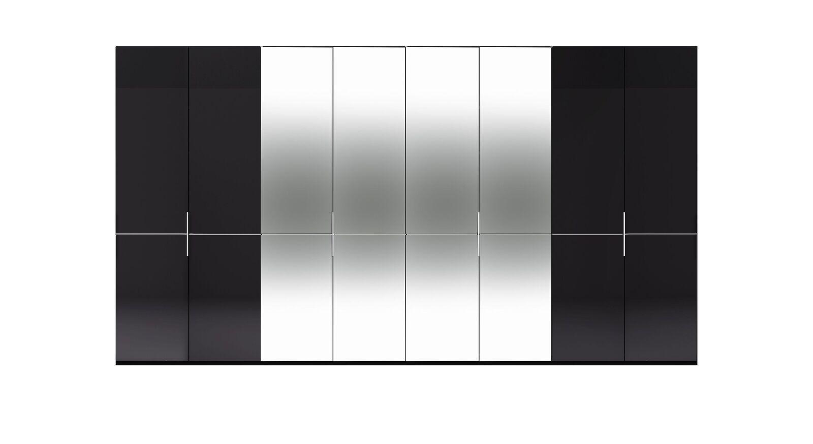 8-türiger GALLERY M Spiegel-Drehtüren-Kleiderschrank IMOLA W Graphit ohne Spiegel