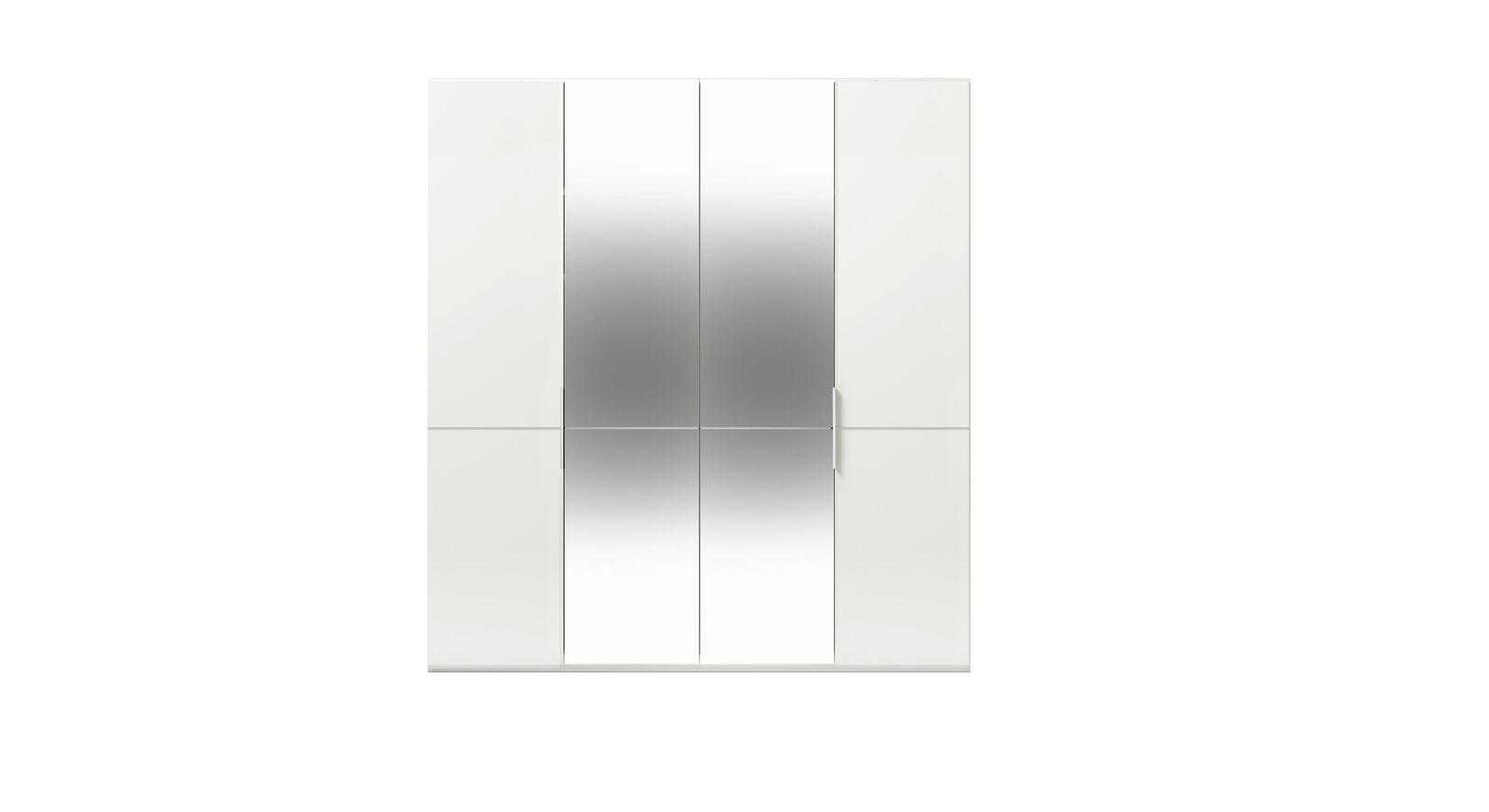 4-türiger GALLERY M Spiegel-Drehtüren-Kleiderschrank IMOLA W Weiß ohne Spiegel