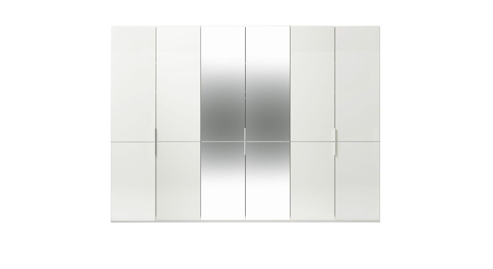 6-türiger GALLERY M Spiegel-Drehtüren-Kleiderschrank IMOLA W Weiß ohne Spiegel