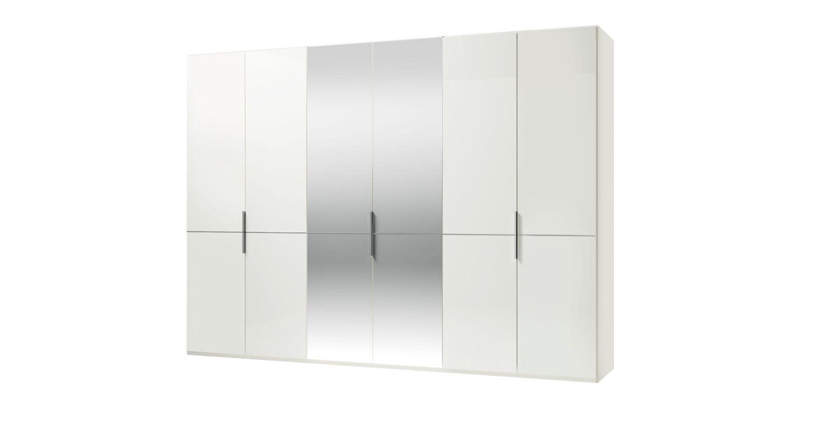 GALLERY M Spiegel-Drehtüren-Kleiderschrank IMOLA W in Weiß ohne Zierspiegel