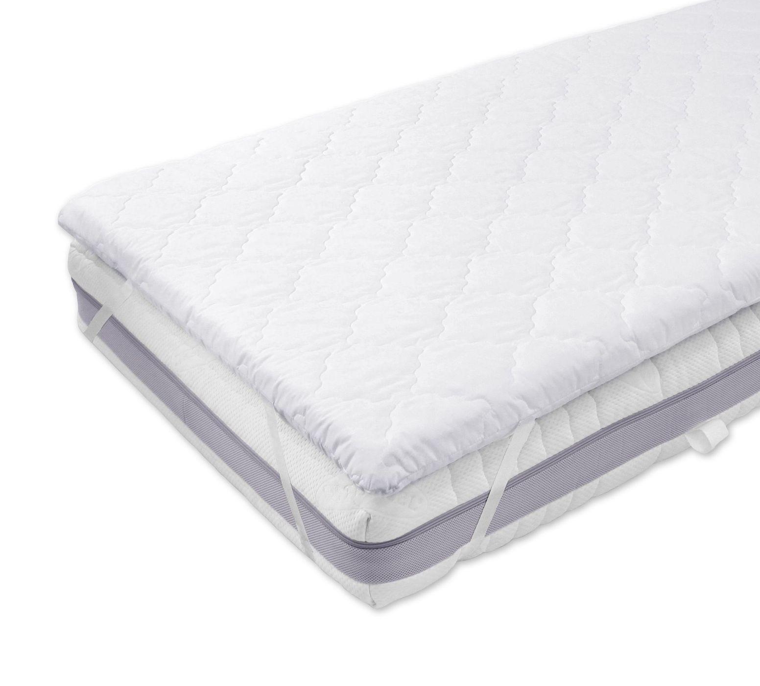 elastischer gel topper 6 cm mit spanngummis cleversleep soft. Black Bedroom Furniture Sets. Home Design Ideas