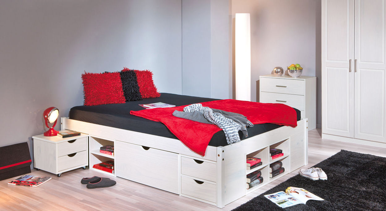 g nstiges schlafzimmer aus kiefer mit viel stauraum g teborg. Black Bedroom Furniture Sets. Home Design Ideas