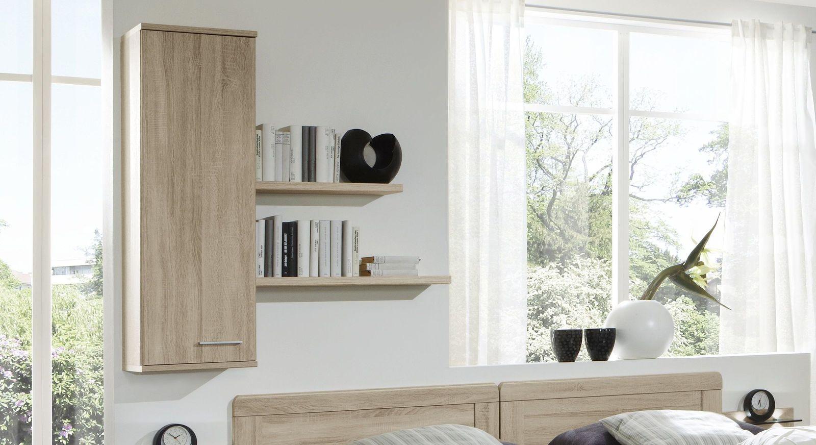 hoher wandschrank zum h ngen mit fachboden eiche dekor. Black Bedroom Furniture Sets. Home Design Ideas