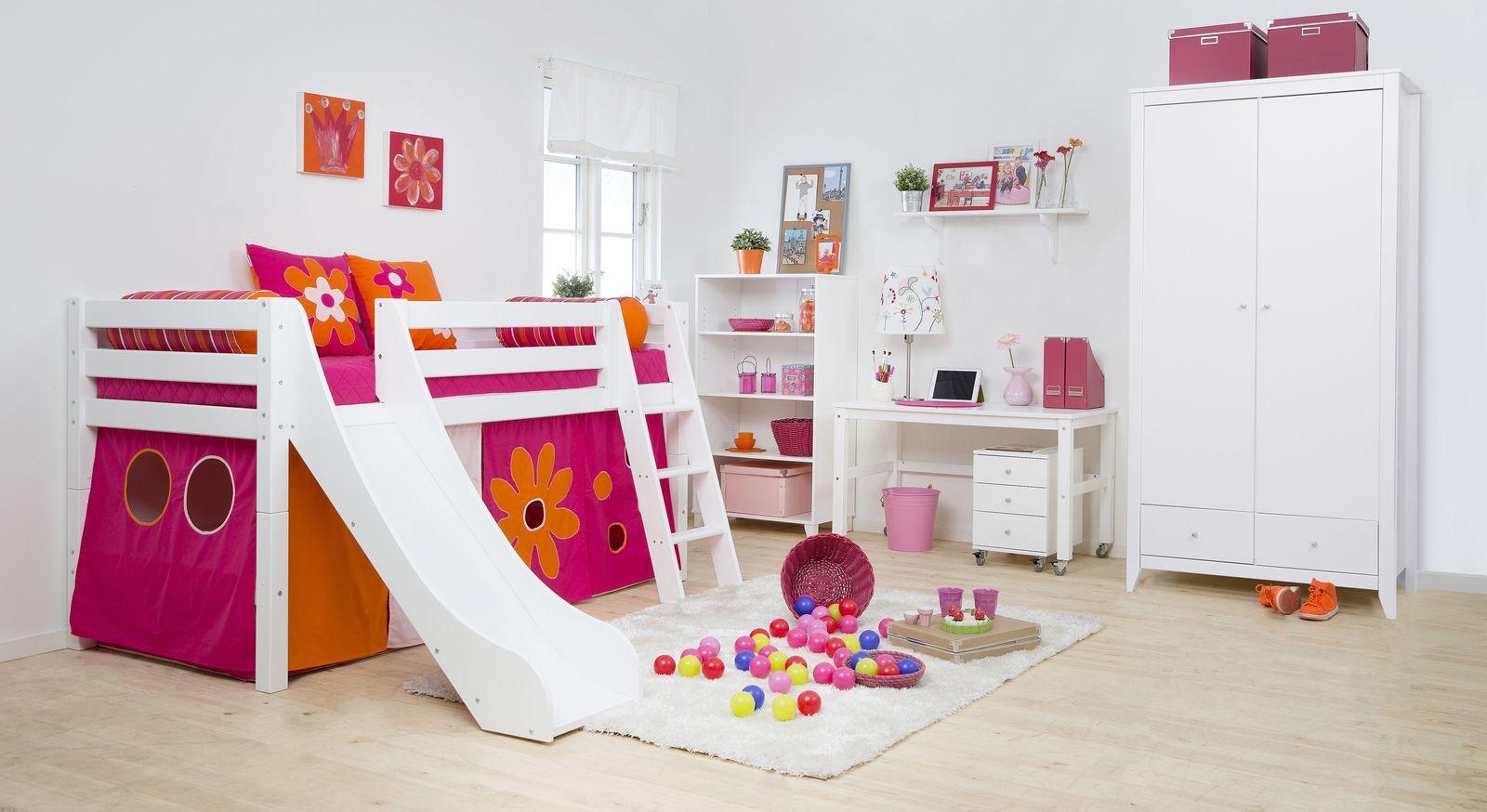 hochbett mit rutsche f r m dchen kaufen kids royality. Black Bedroom Furniture Sets. Home Design Ideas