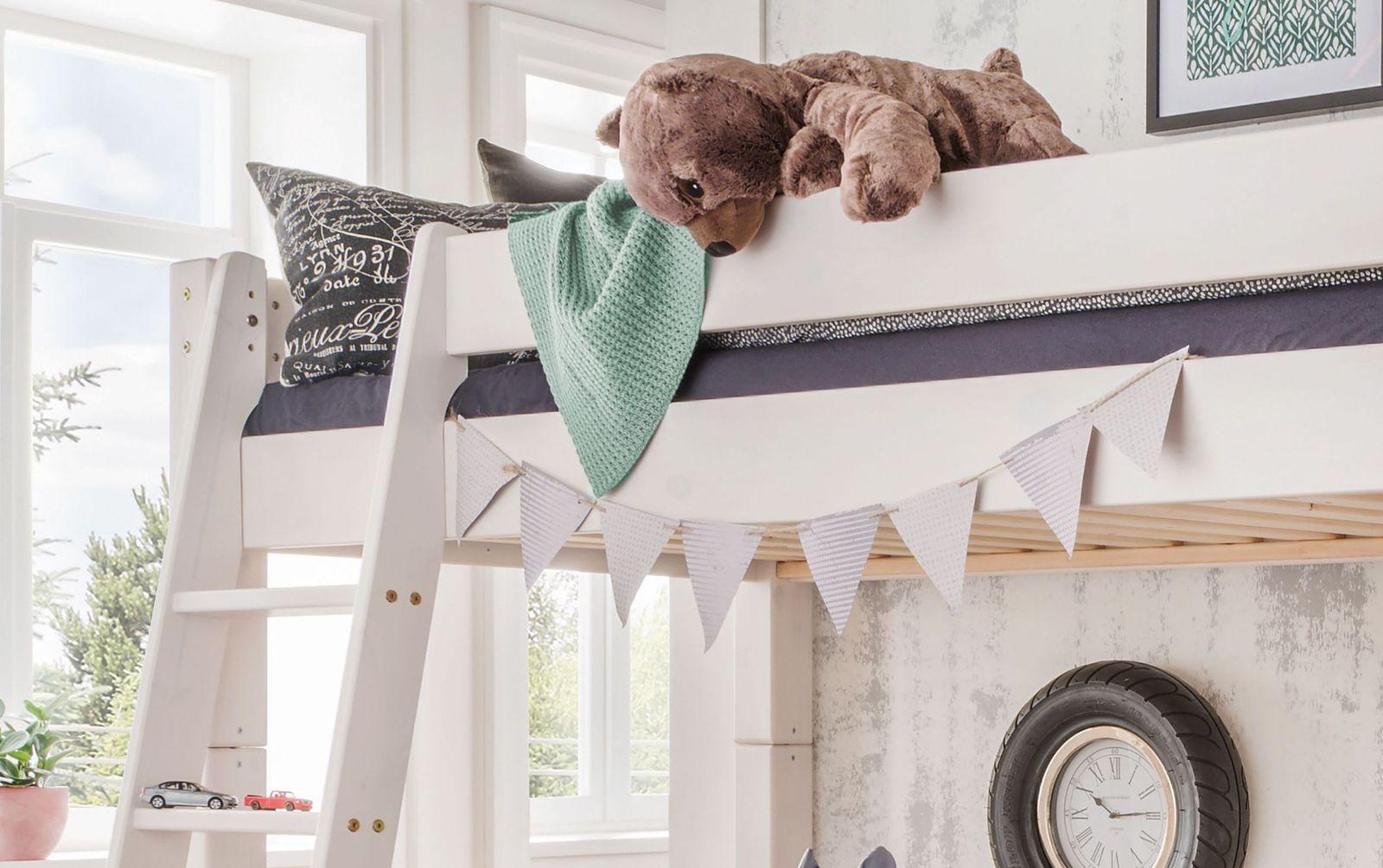Hochbett Kids Dreams mit schräger Leiter