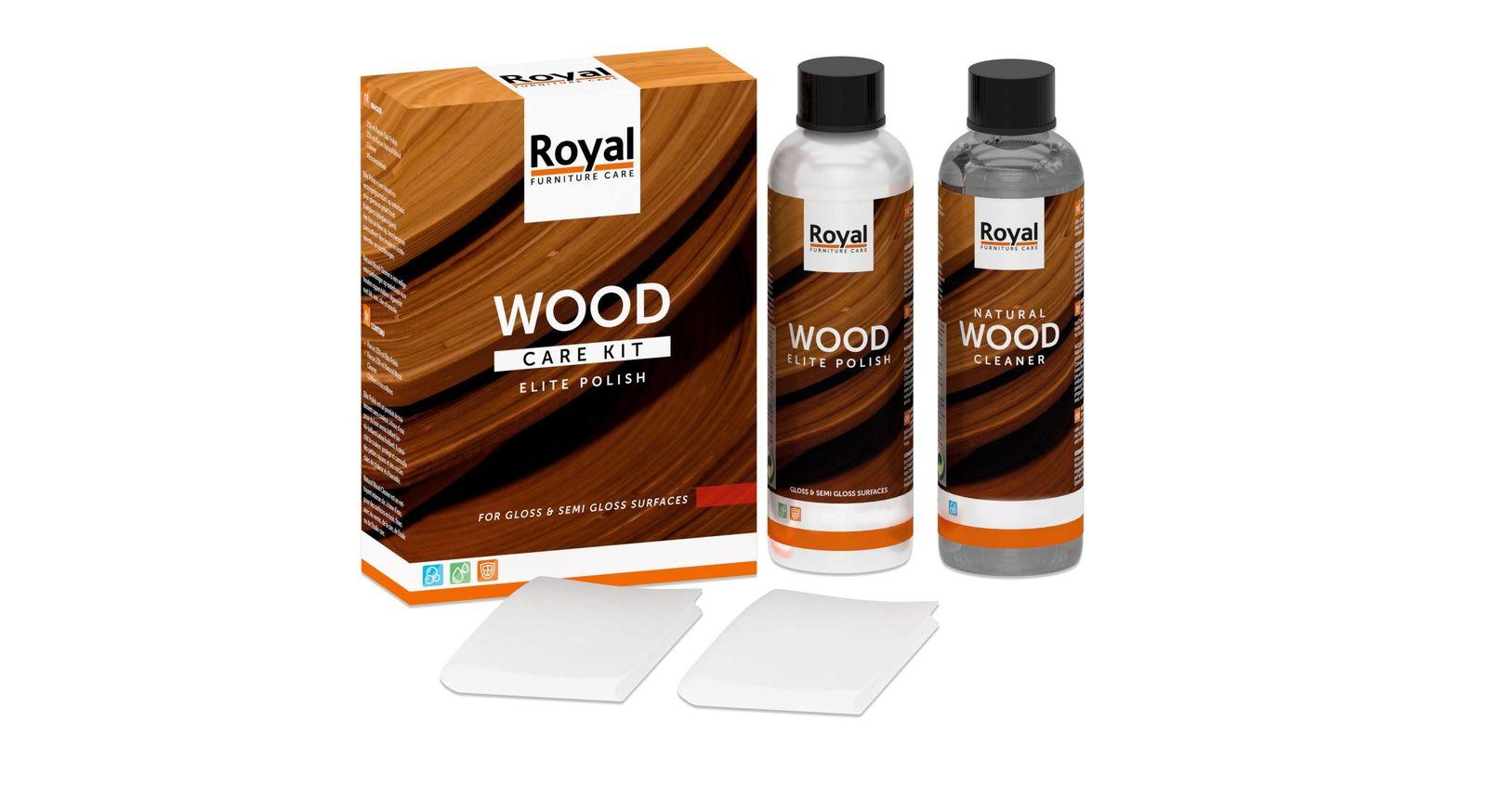 Hochwertiges Holzpflegeset für lackierte Oberflächen inklusive Mikrofasertuch