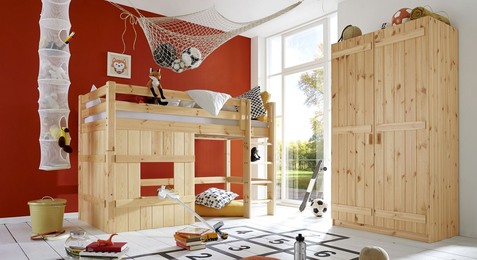 Hütten-Hochbett Kids Paradise Basic mit passendem Produktebild