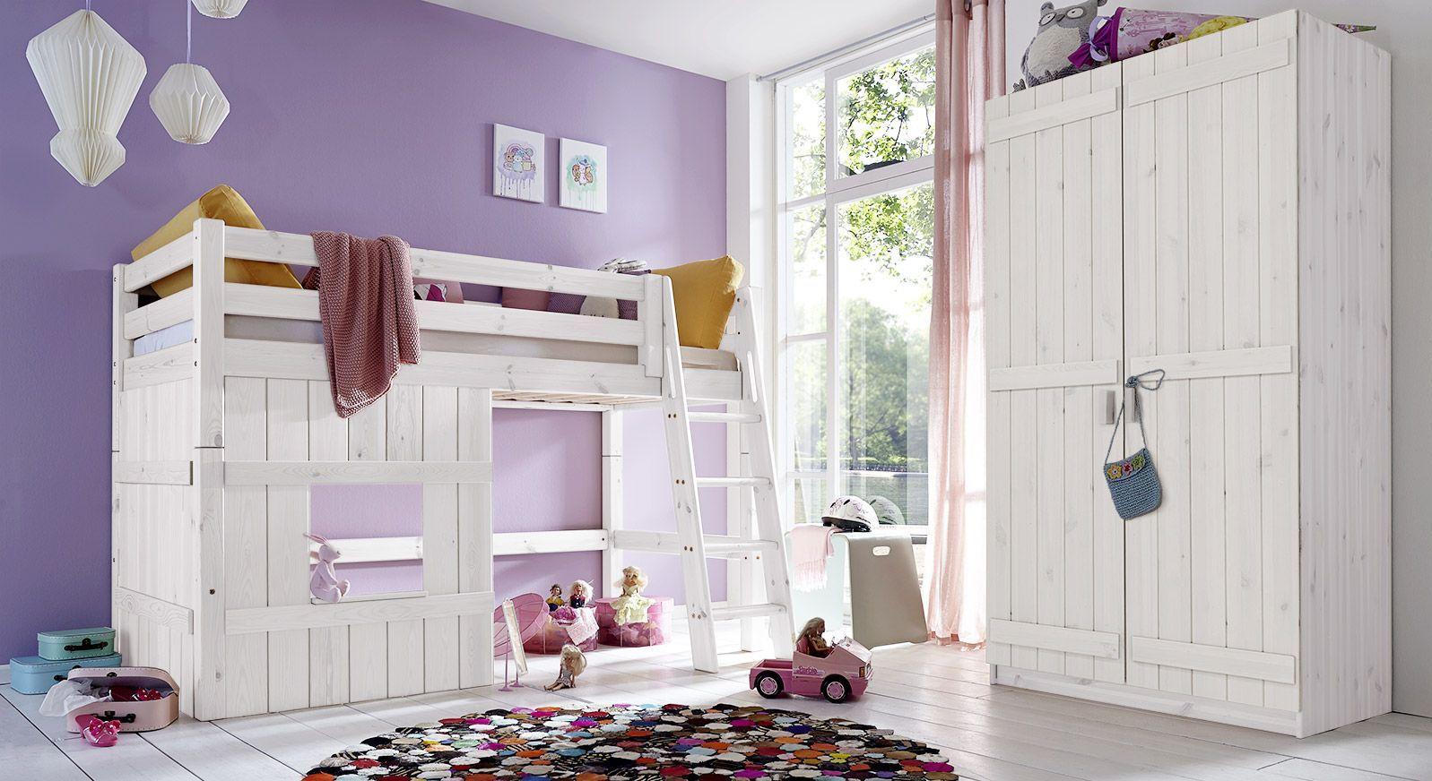 Hütten-Hochbett Kids Paradise für Mädchen mit passenden Produkten
