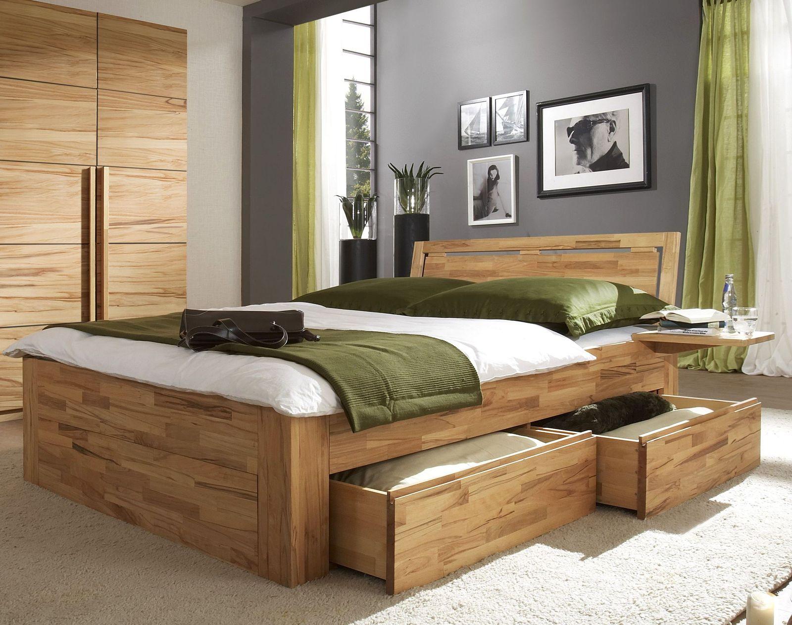 Schubkastenbett Mit Zusatzlichem Stauraum Bett Andalucia