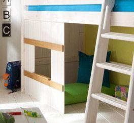 Midi-Hochbett Kids Paradise mit H?ttenunterbau