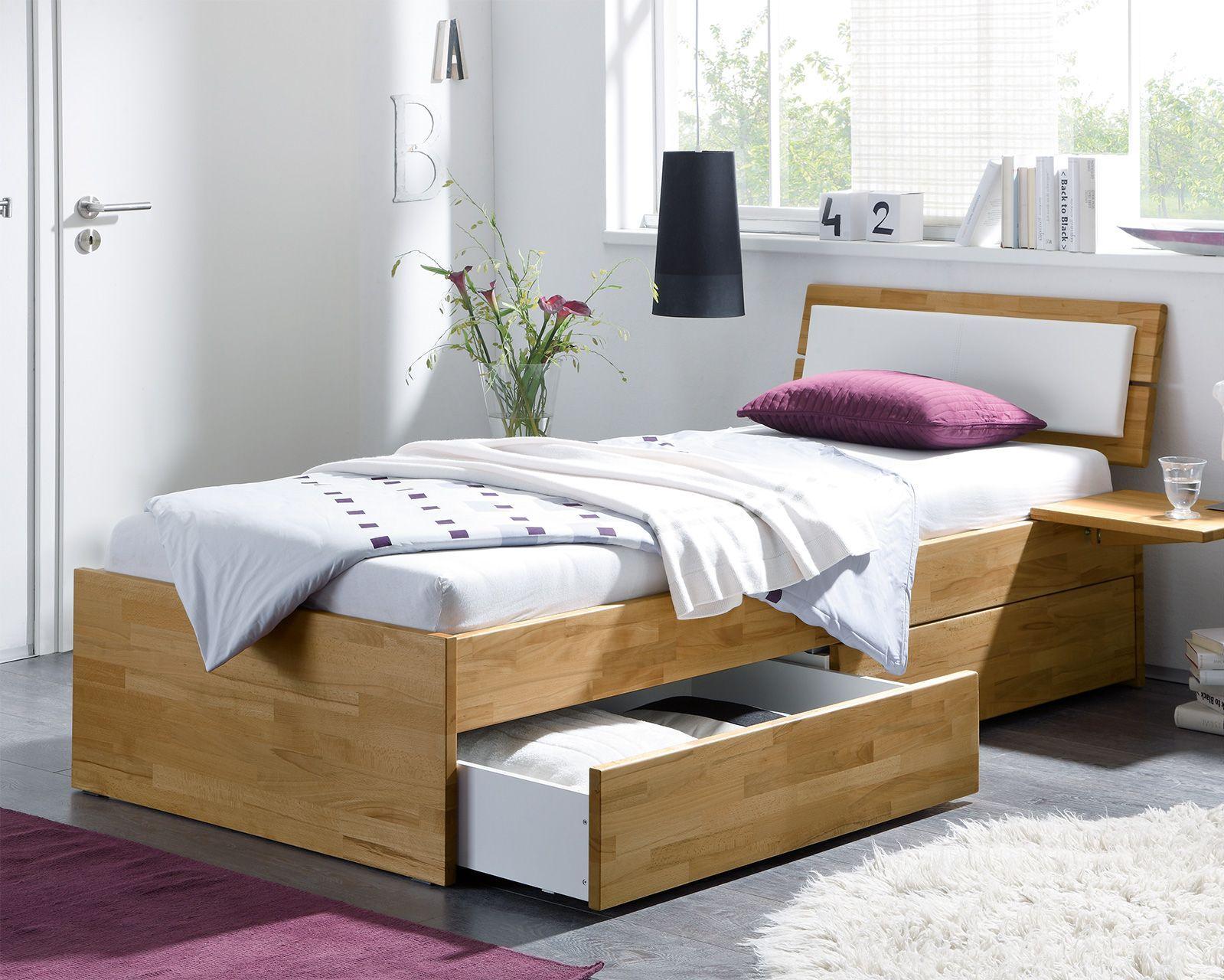Einzelbett Aus Holz Mit Schubladen Kaufen Leova Betten At