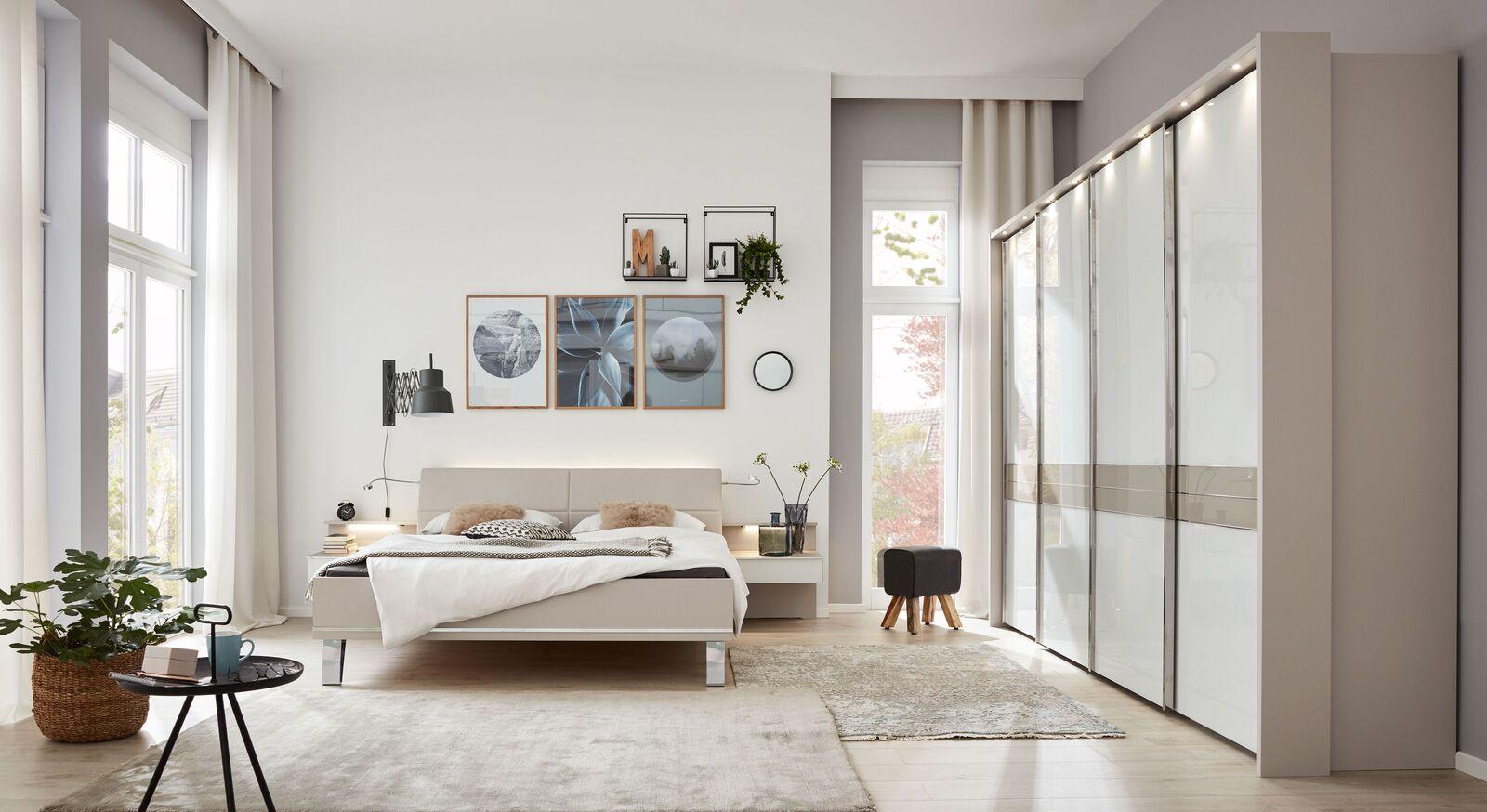 INTERLIVING Bett 1009 mit passenden Schlafzimmermöbeln