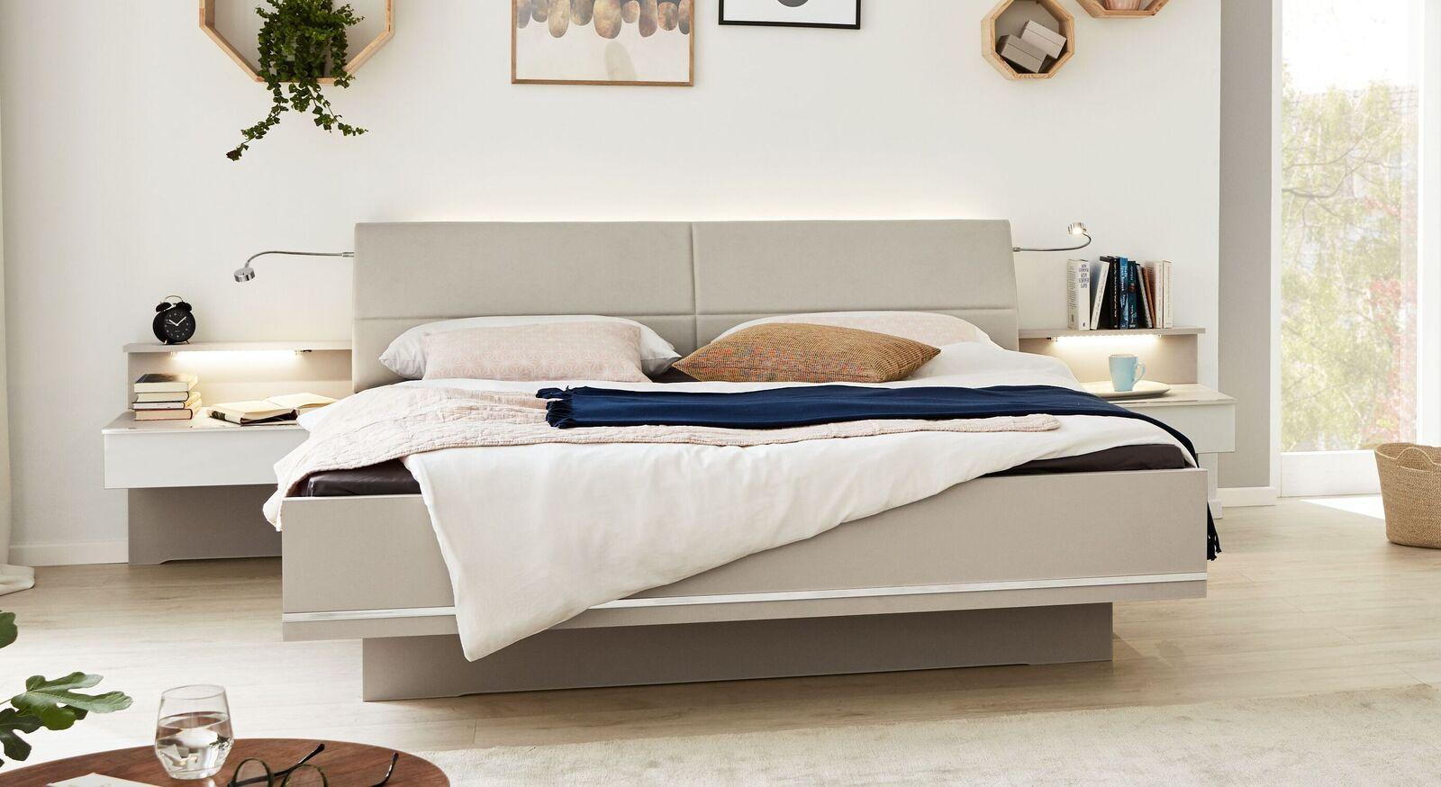 INTERLIVING Bett 1009 in Schwebeoptik mit modernem Design