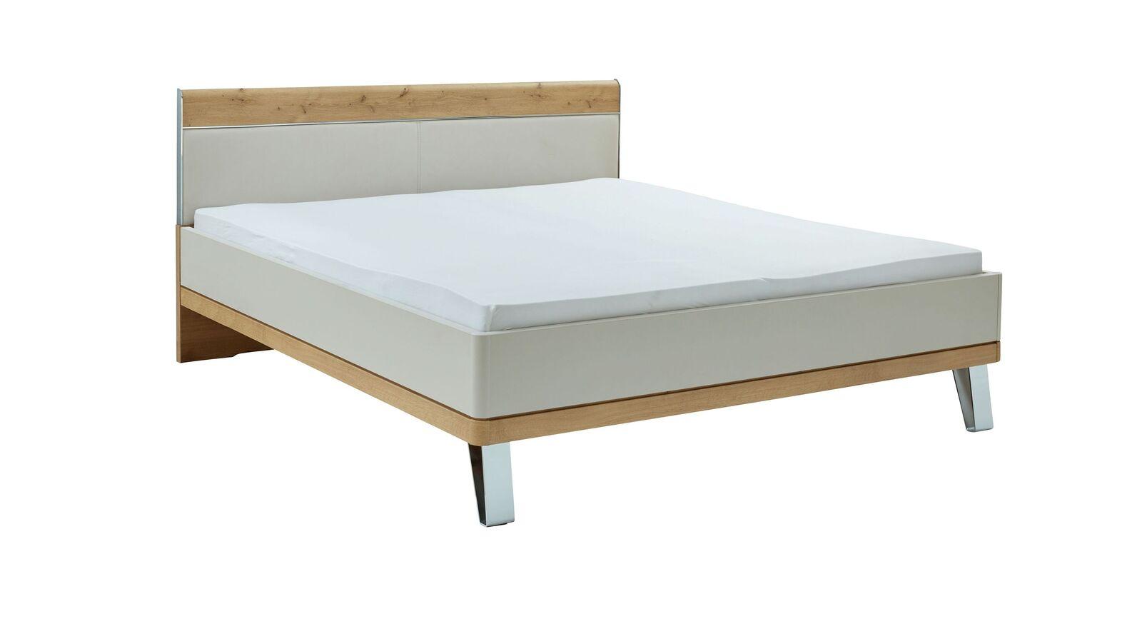 INTERLIVING Bett 1017 mit Kunstleder-Einsatz im Kopfteil