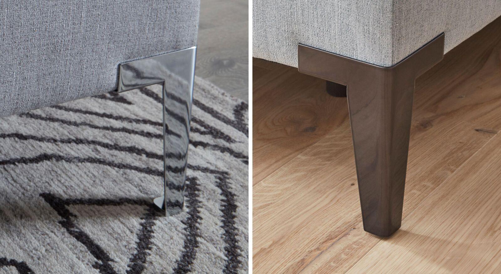 INTERLIVING Boxspringbett mit Metallfüßen in Schwarz oder Chrom