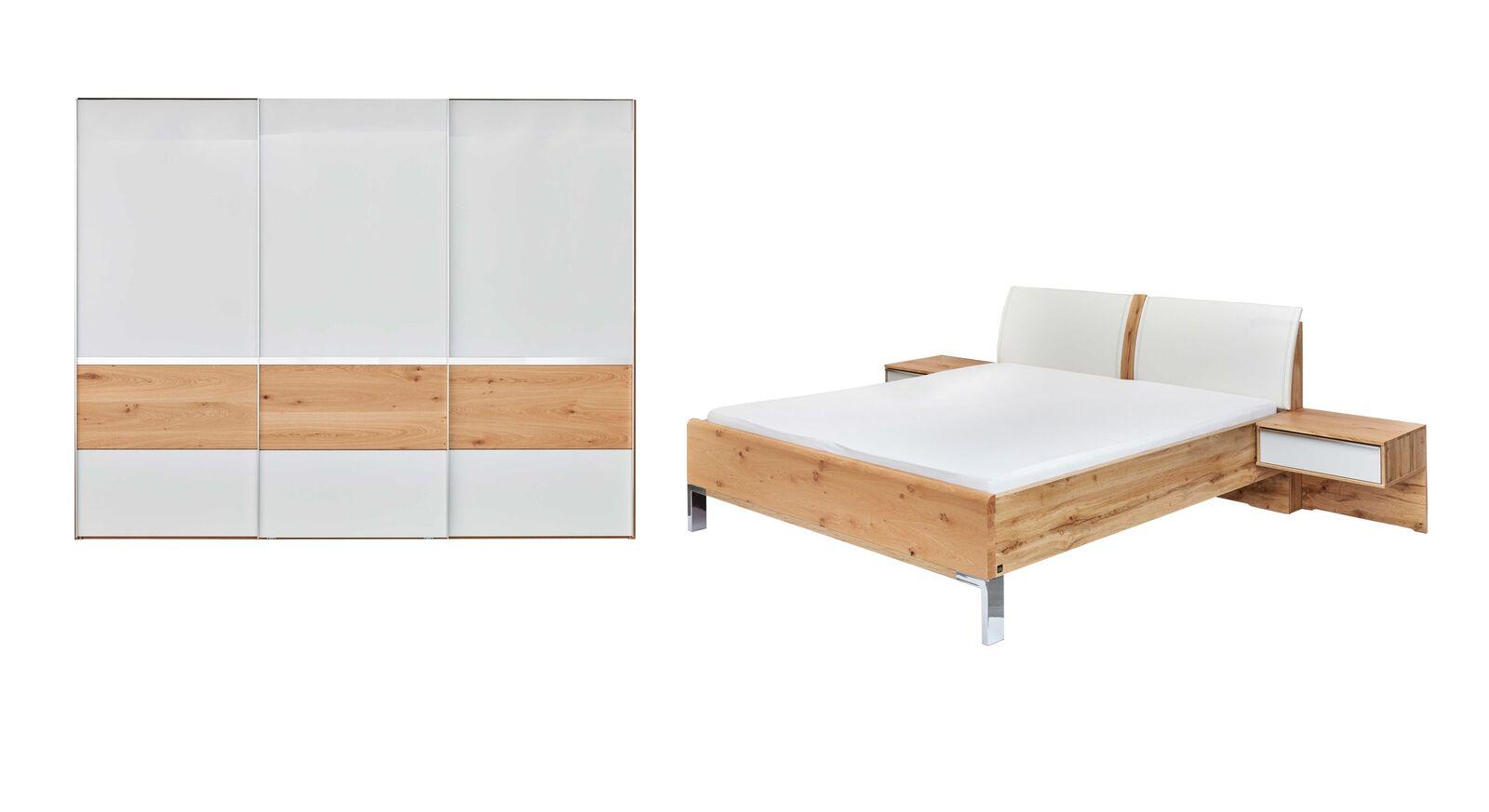 INTERLIVING Schlafzimmer 1202 mit Schrank Bett und Nachttischen