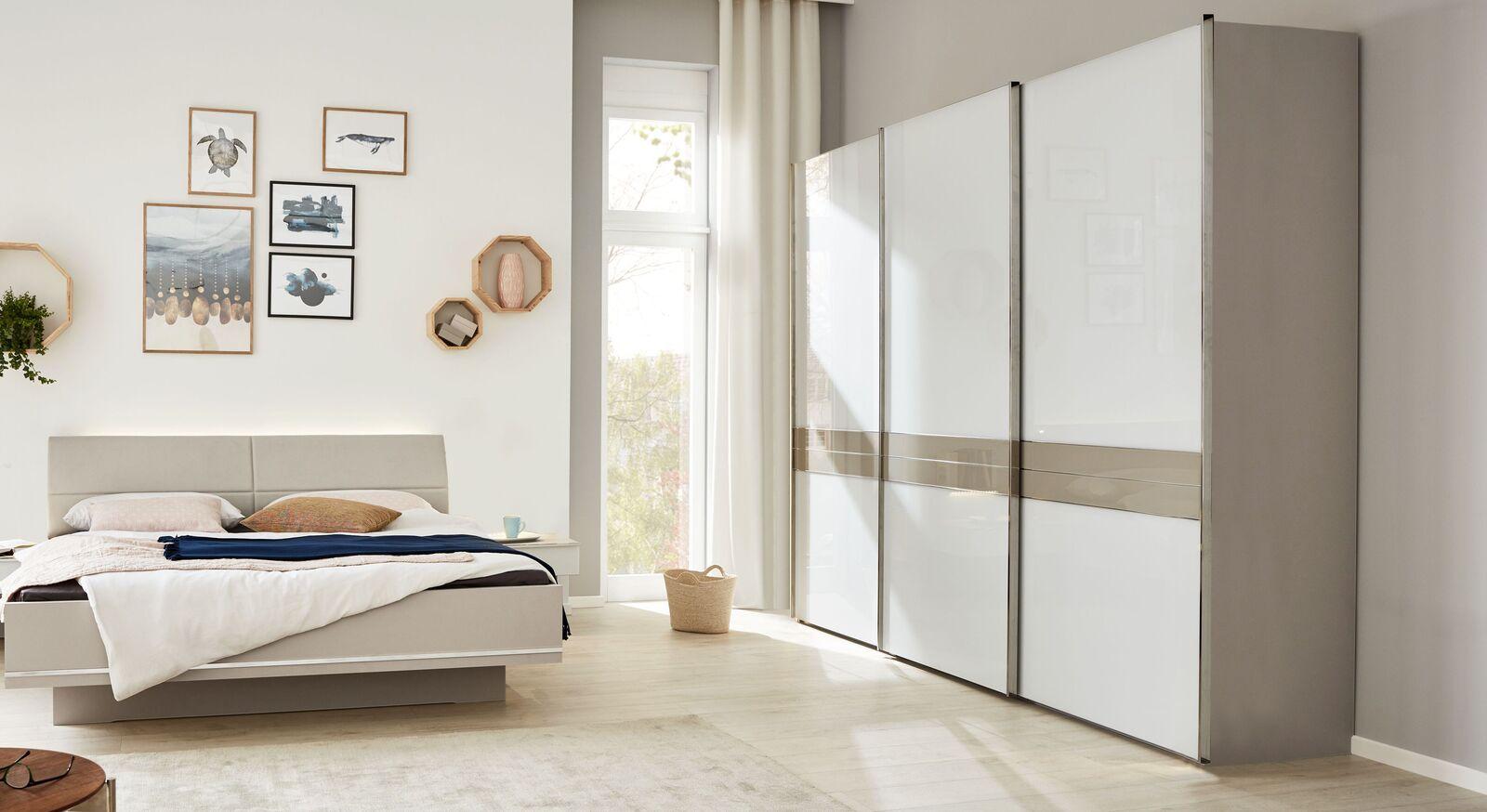 INTERLIVING Schwebetüren-Kleiderschrank 1009 in geradlinigem Design