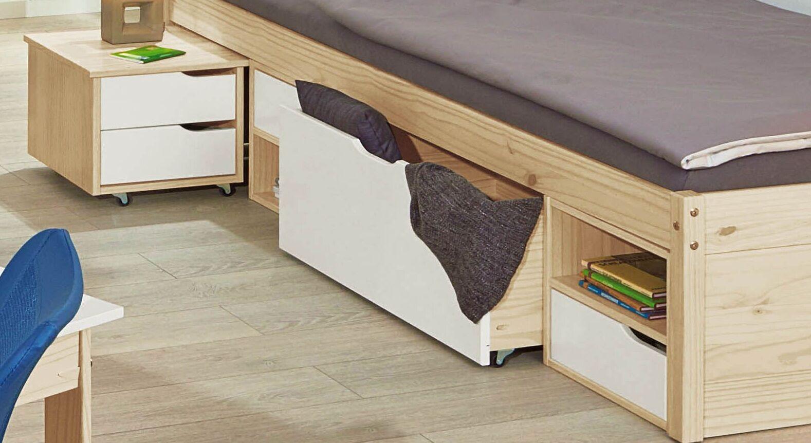 Jugendbett Mit Schubkasten Inklusive Nachttisch Aus Kiefer