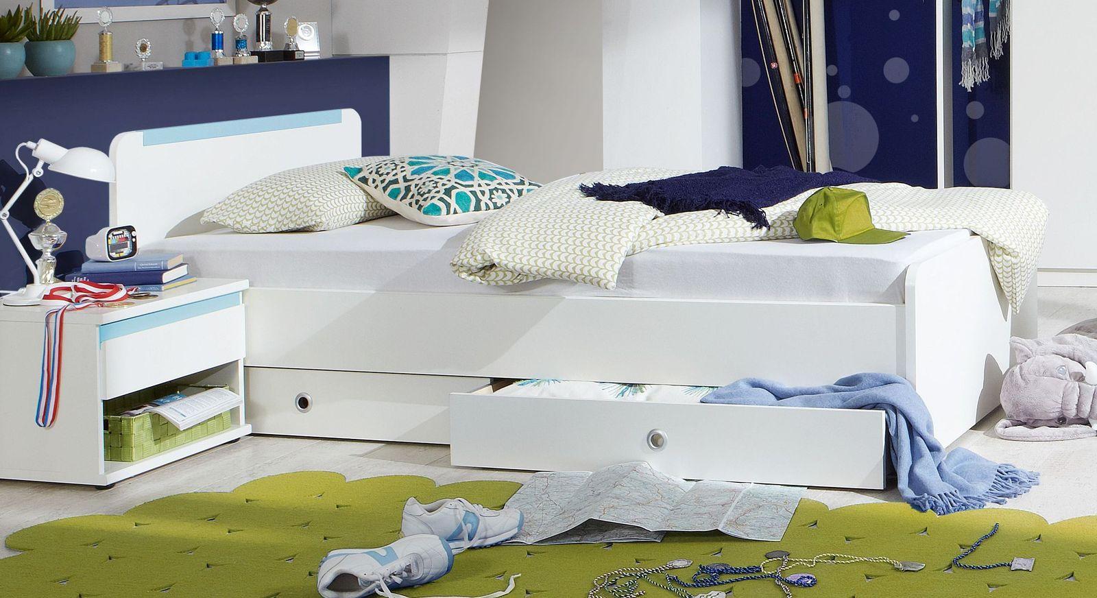 jugendbett 90x200 cm f r jungen optionale schublade los pinos. Black Bedroom Furniture Sets. Home Design Ideas