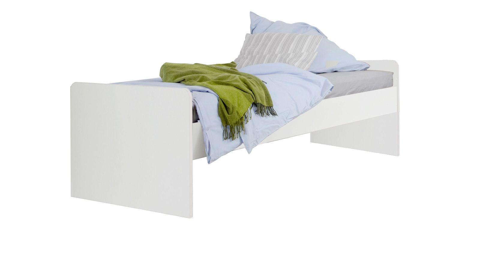 Jugendbett ohne Bettschublade in Weiß