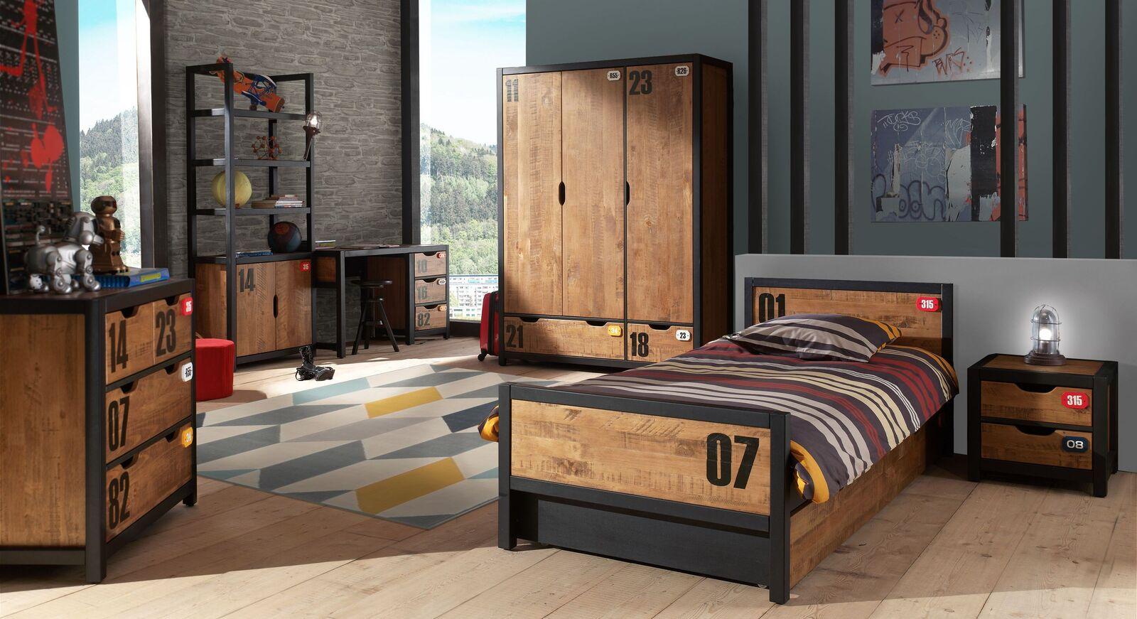 Jugendzimmer Beli mit passenden Schlafzimmermöbeln