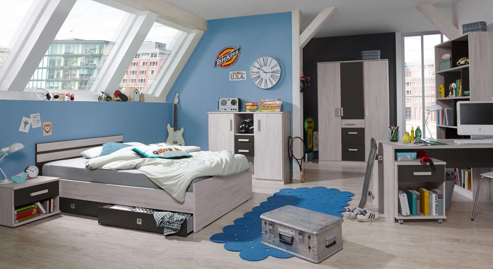 Preiswertes Jugendzimmer Mereto mit passenden Möbeln