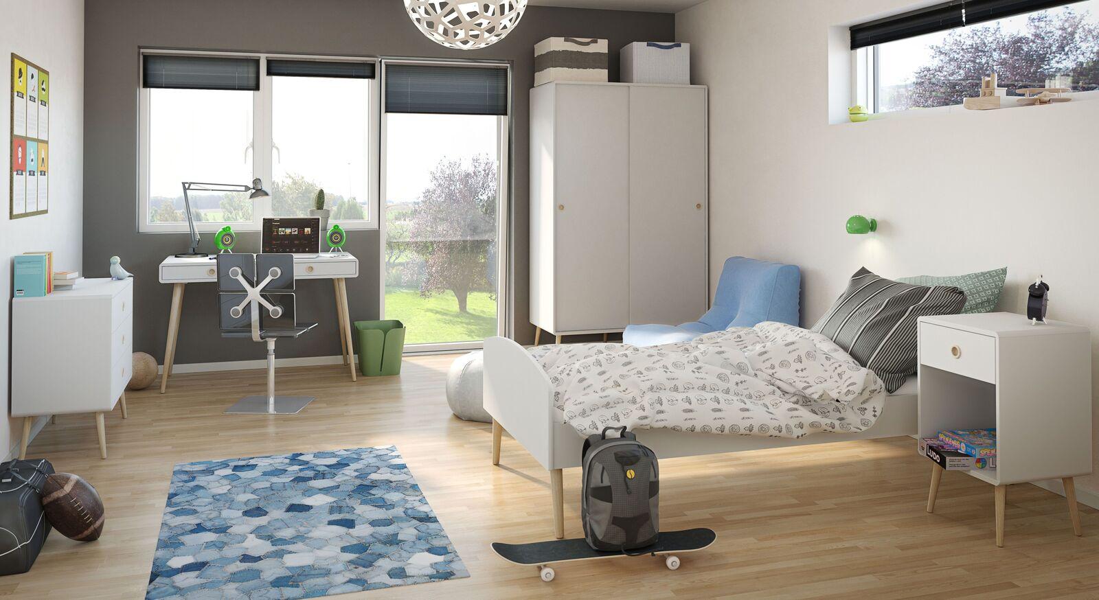 Jugendzimmer Zuria mit passenden Möbeln