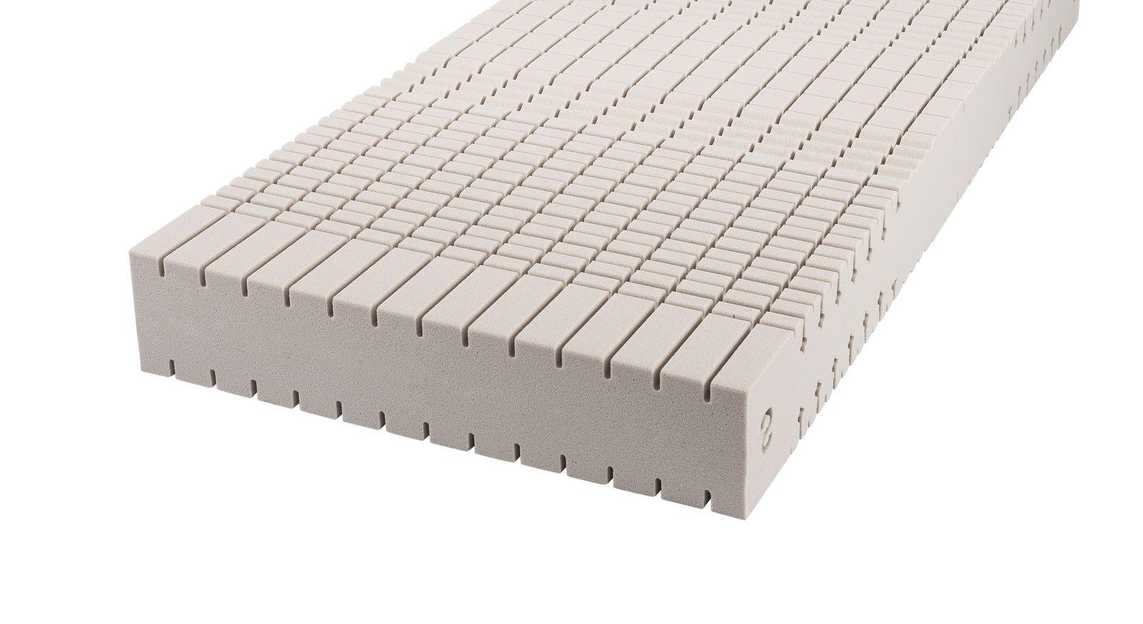 Kaltschaum-Matratze orthowell comfort mit ergonomischen Kern-Einschnitten