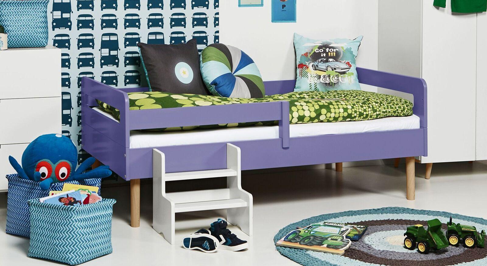 Modernes Kinderbett Kids Town Retro aus lilafarbenem MDF