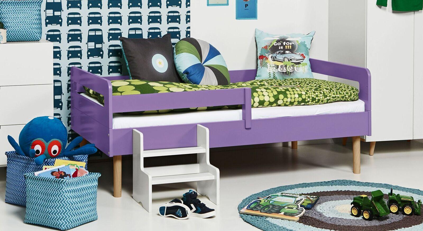 Modernes Kinderbett Kids Town Retro aus violettem MDF