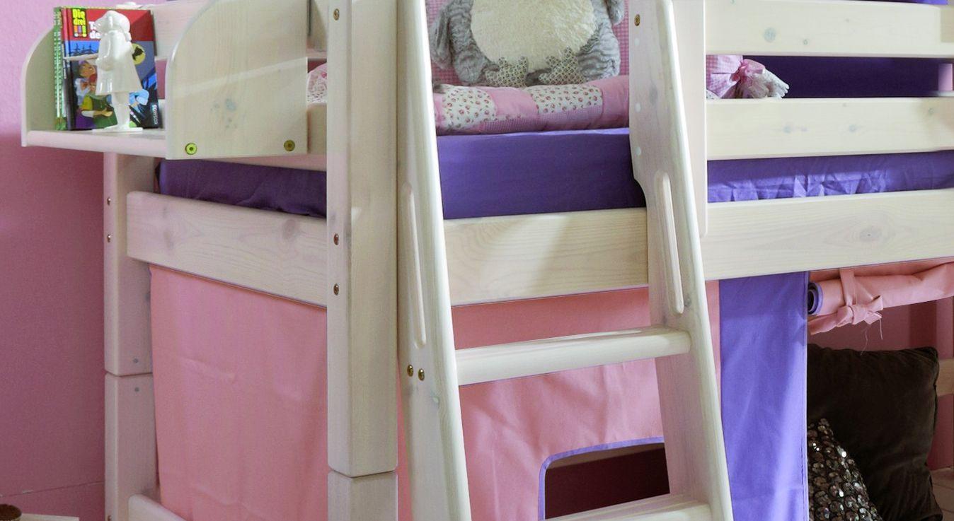 Kinderbett Hochbett Kids Paradise Prinzessin Leiter mit Haltegriffen