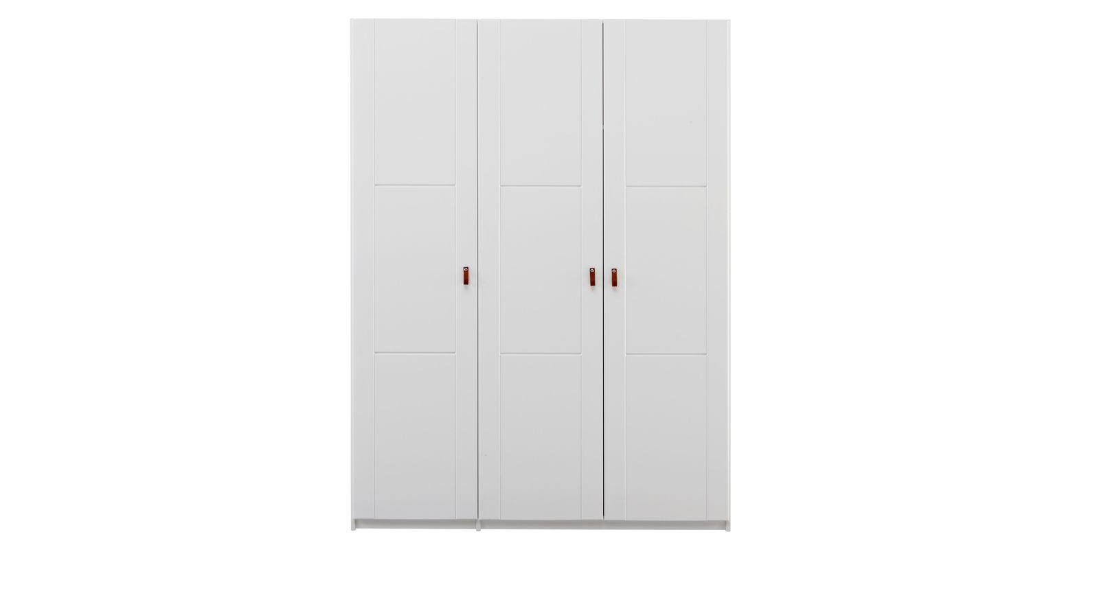 Weißer Kinder-Kleiderschrank von LIFETIME mit 3 Türen