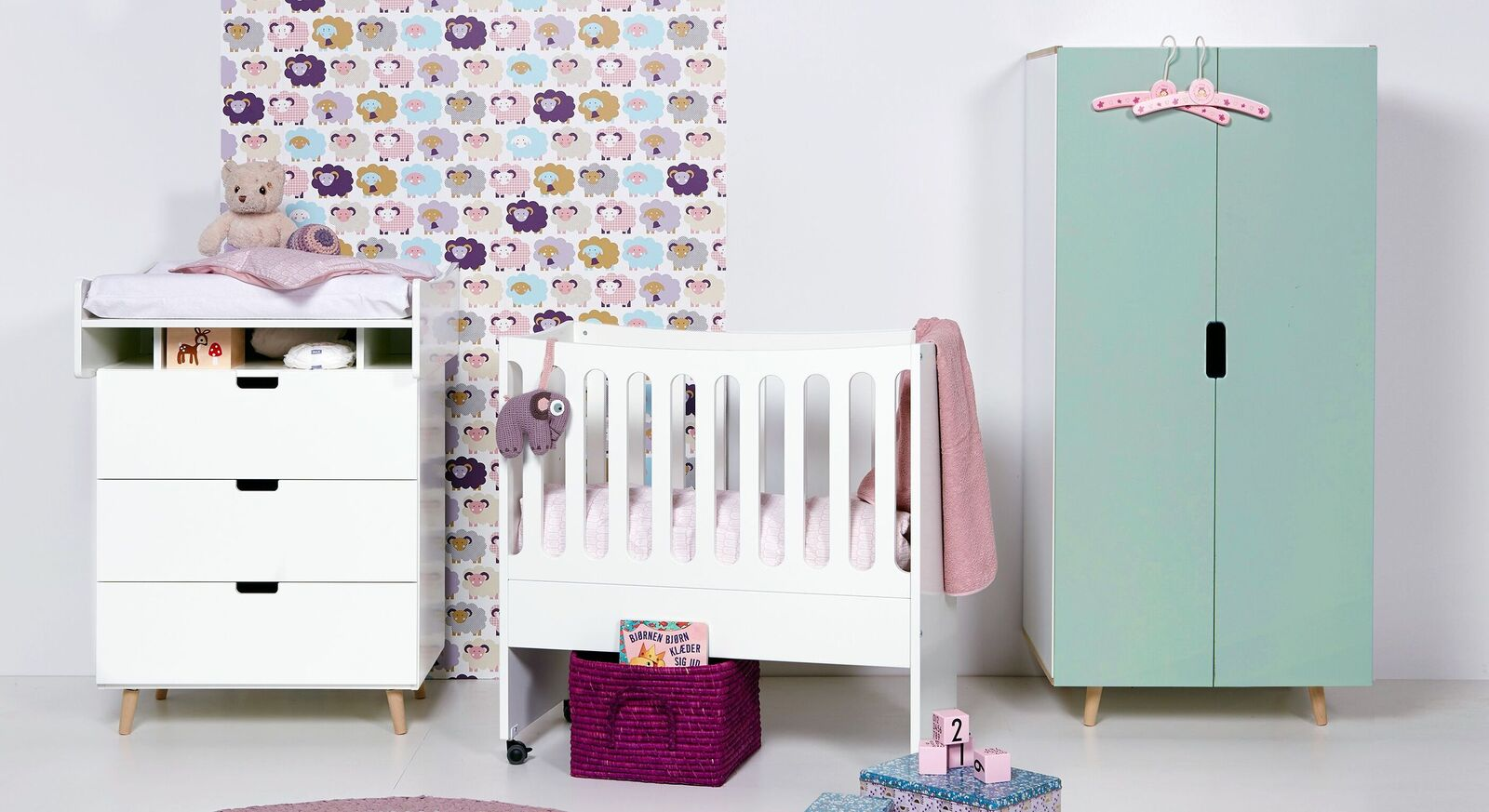 Kleiderschrank Kids Town Retro Color ideal fürs Babyzimmer