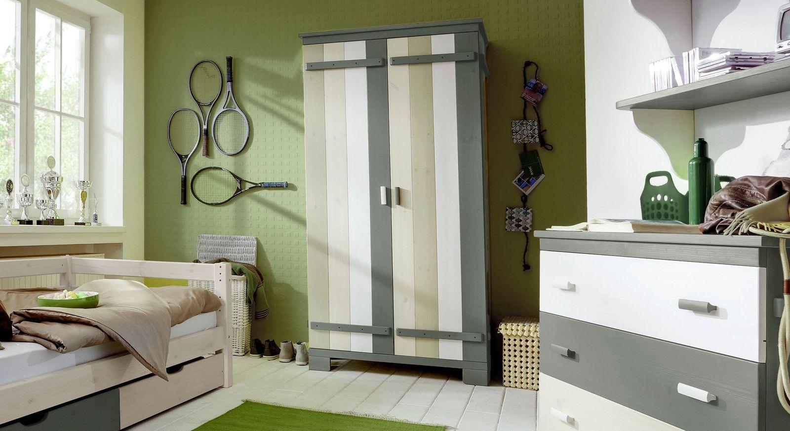 Kleiderschrank Laubhütte fürs Kinderzimmer mit zwei Türen