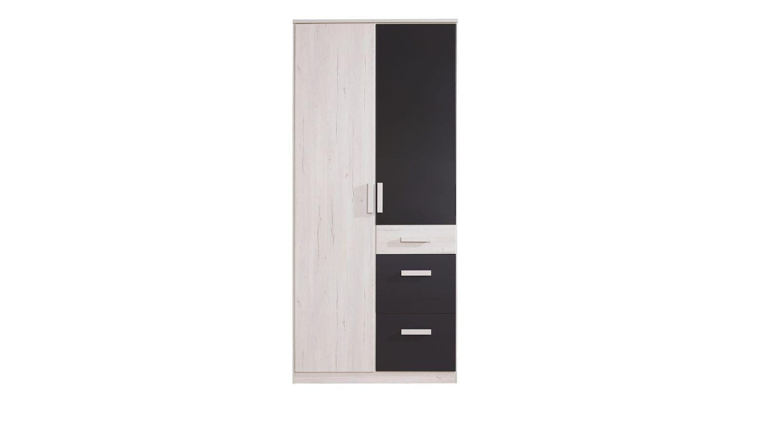 Dekor-Kleiderschrank Mereto mit 2 Türen
