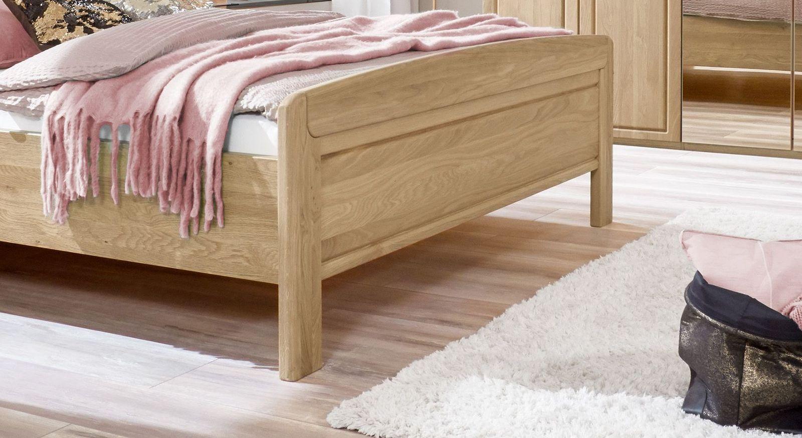Komfort-Doppelbett Bloomfield mit stabilem Fußteil