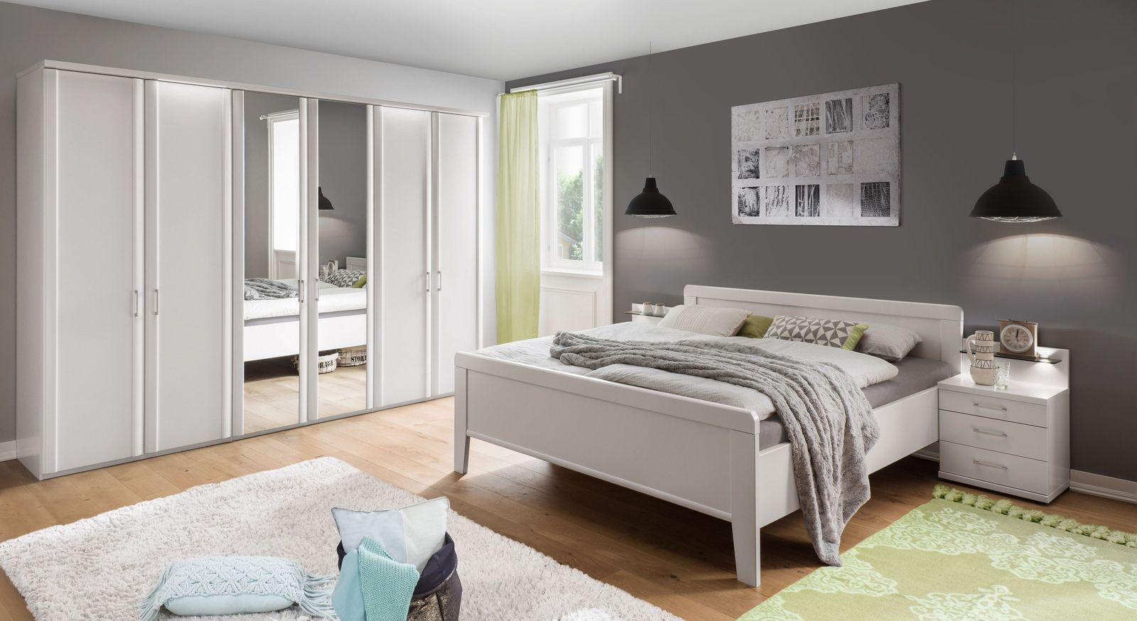 Komplett Schlafzimmer Calimera mit Komfort-Doppelbett