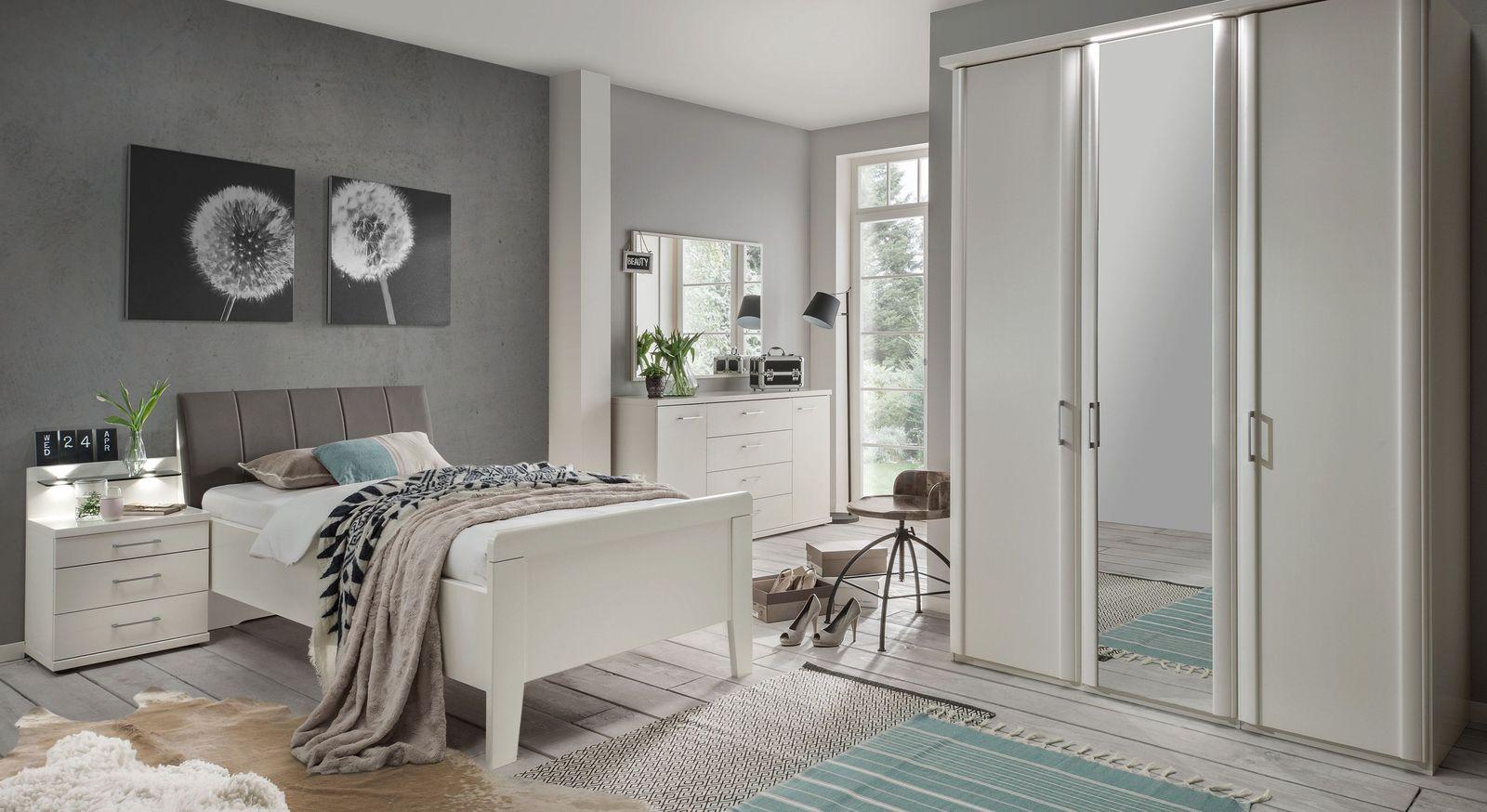Komfort-Einzelbett Casperia mit passenden Schlafzimmer-Möbeln