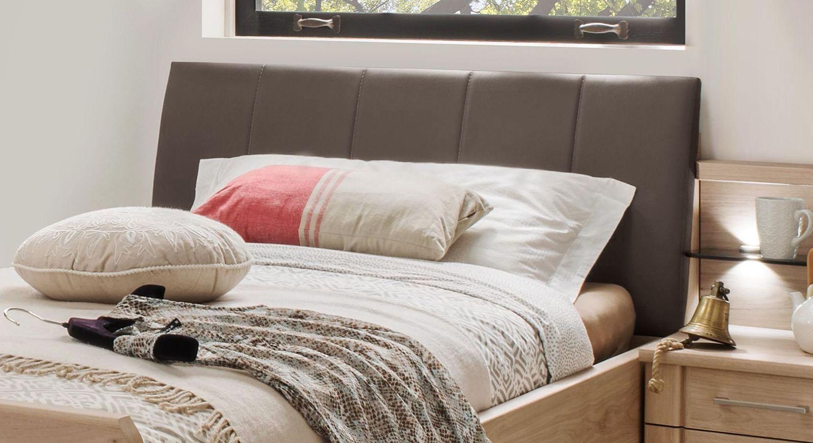 Komfort-Einzelbett Herdorf mit modernem Kunstleder-Kopfteil