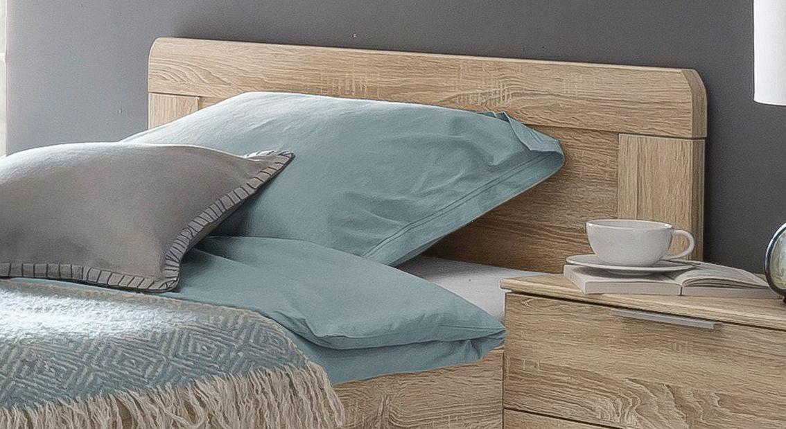 Komfort-Einzelbett Sinello inklusive Kopfteil mit abgerundeten Ecken