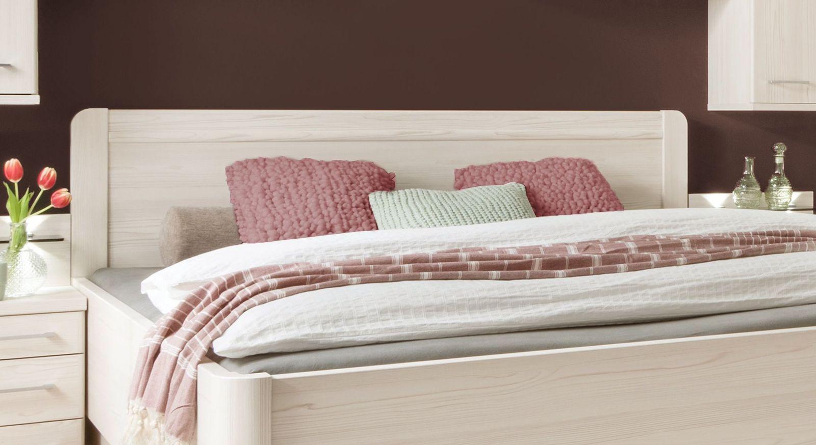 Komfort-Schubkastenbett Pegaus Kopfteil mit abgerundeten Ecken