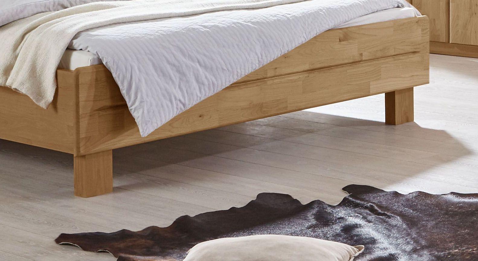 Komfortbett Aliano mit Fußbereich aus Massivholz
