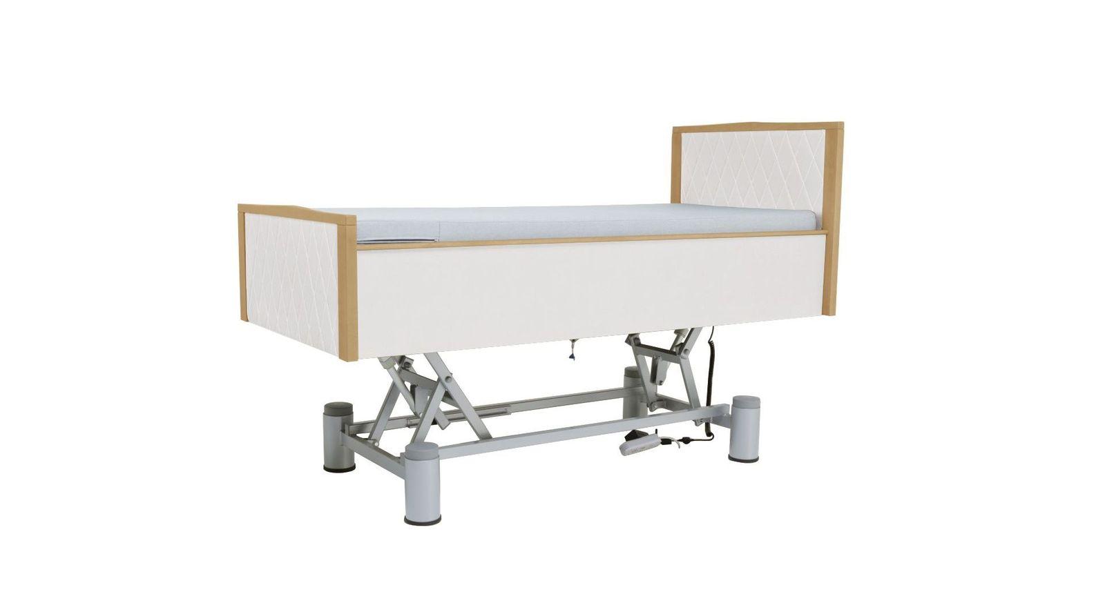 Robustes Komfortbett mit Pflegebett-Funktion Rügen mit elektrischer Verstellung