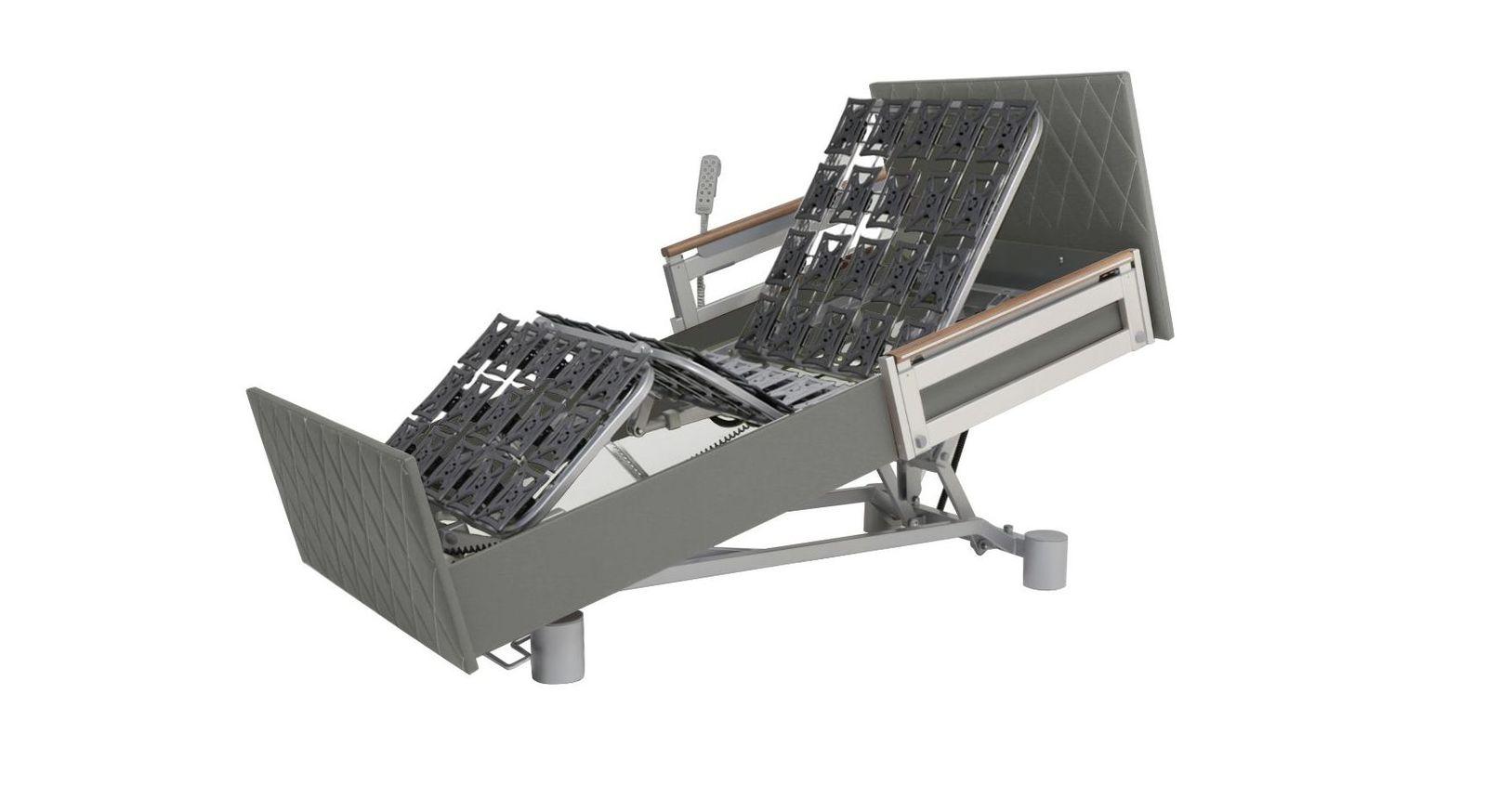 Komfortbett mit Pflegebett-Funktion in Sessel-Position