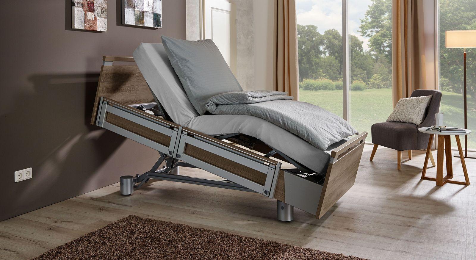 Stabiles Komfortbett mit Pflegebett-Funktion Usedom mit praktischer Verstellung