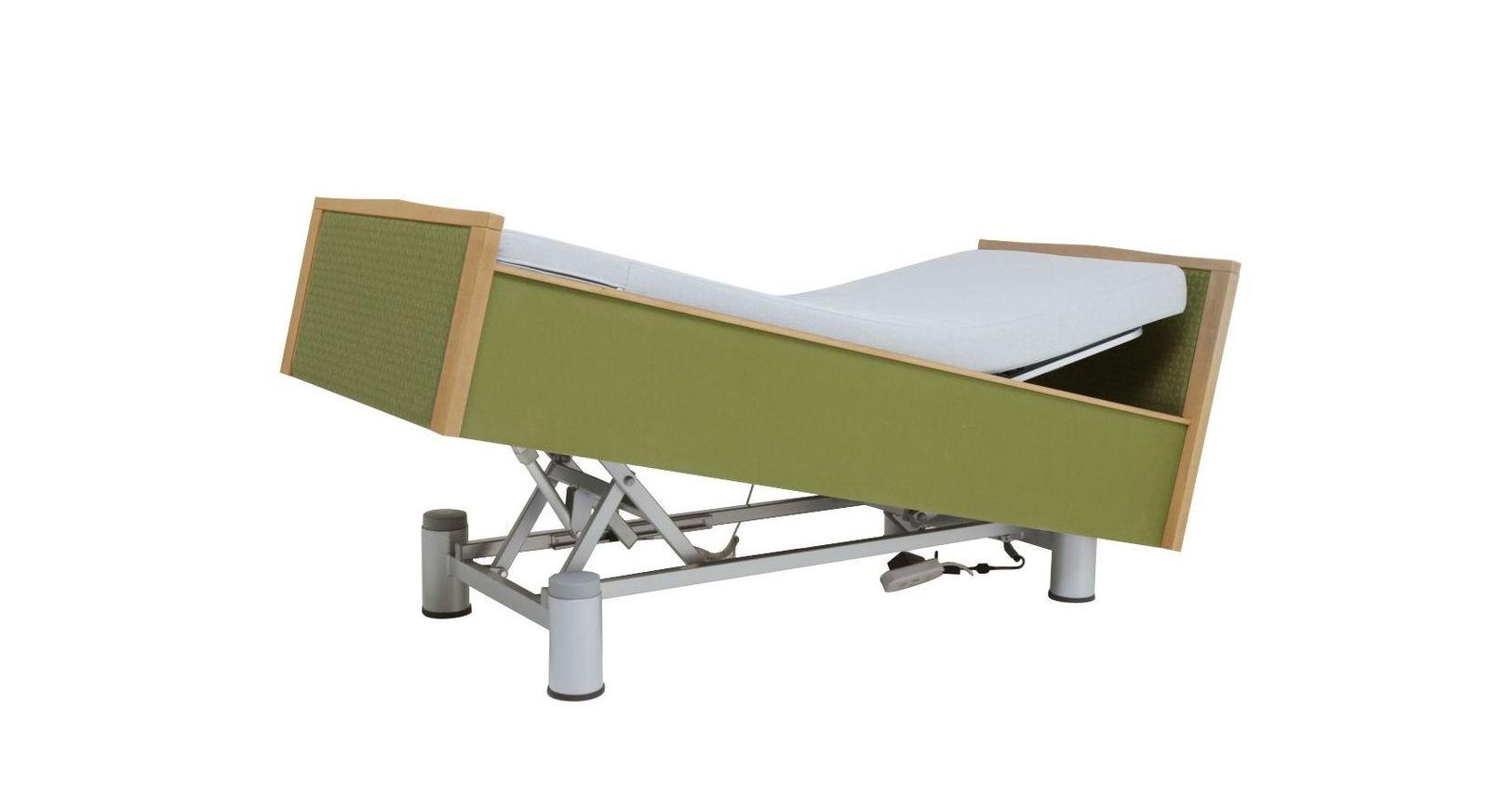 Stabiles Komfortbett mit Pflegebett-Funktion mit Verstellung per Fernbedienung