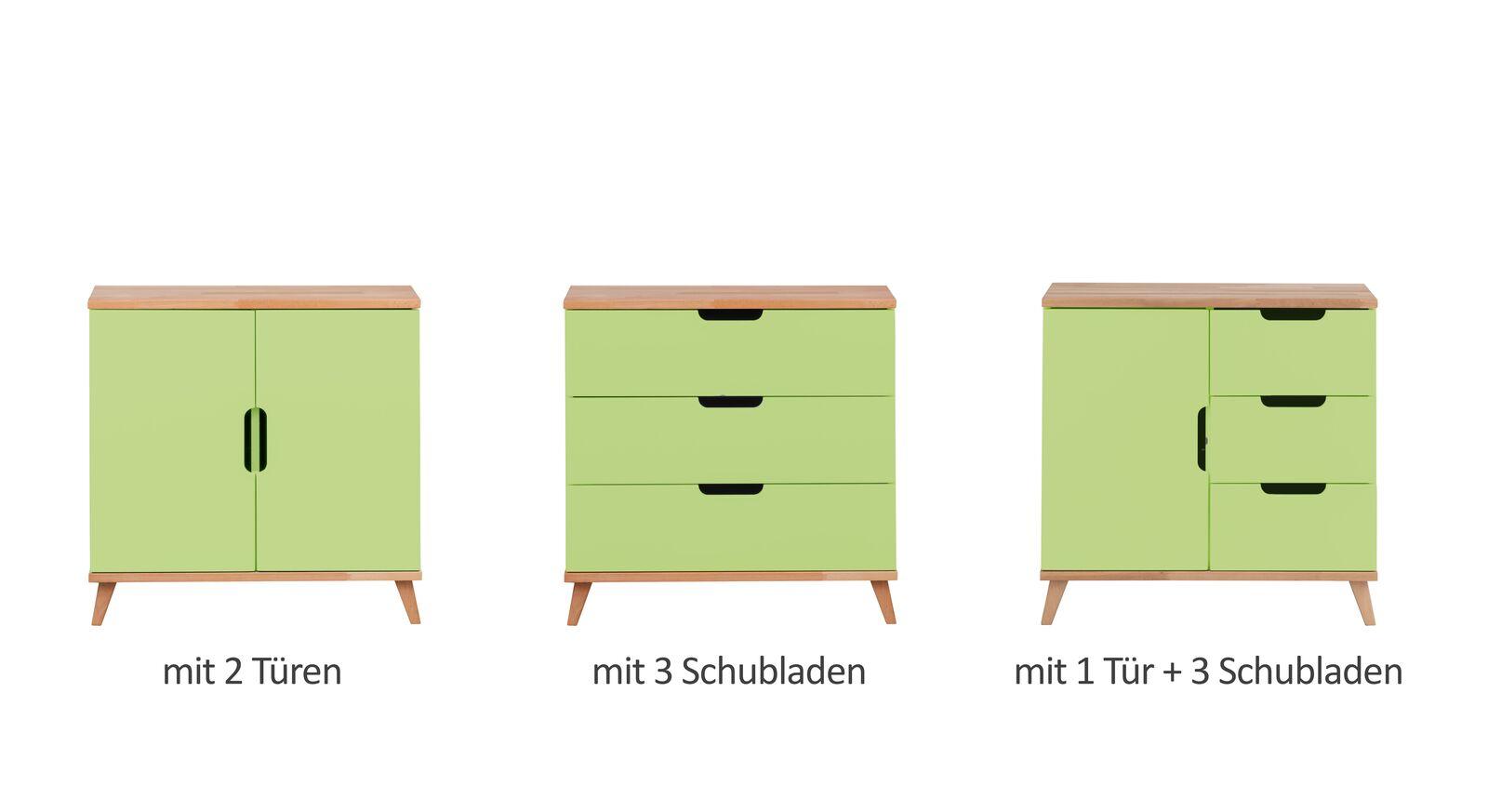 Alle Varianten der Kommode Kids Nordic in Grün